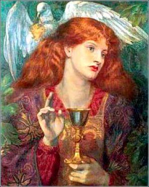 Dívka svatého grálu, Dante Gabriel Rossetti